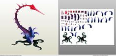 Papercraft .pdo file template for League of Legends - Zyra Base Plants.