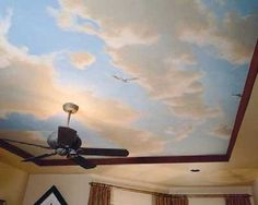 I like these clouds on this ceiling. makes me want to fly away.