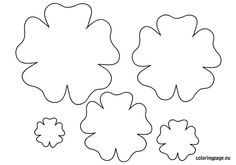 small layered flower template to print - Google Search