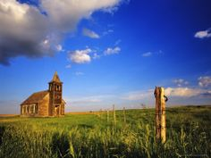 Old Church at Dooley Ghost Town Site, Montana, USA Photographic Print by Chuck Haney at AllPosters.com