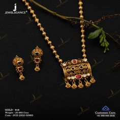 Jadtar Necklace Set gms) - Antique Jewellery for Women by Jewelegance Antique Jewellery Designs, Antique Jewelry, Antic Jewellery, Antique Necklace, Gold Jewellery, Gold Mangalsutra Designs, Gold Jewelry Simple, Necklace Set, Gold Necklace