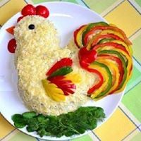 Koch will not regret it! Cute Food, Good Food, Yummy Food, Food Design, Creative Food Art, Food Art For Kids, Boiled Chicken, Vegetable Carving, Food Garnishes