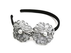 Silver lace hairband