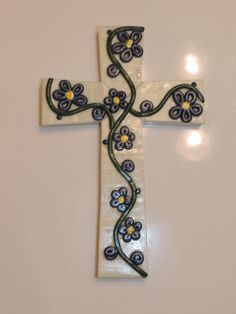Glow in the dark polymer clay cross