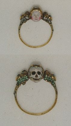 Memento Mori ring Late 17th century, The Ashmolean Museum
