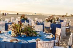 Our gorgeous YourBash! Tablescape outside at the Hotel Del Coronado!