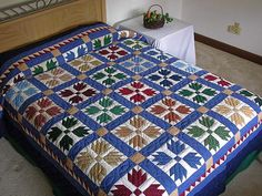 Lovely Amish bear paw quilt
