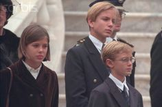 The Casiraghi children in earlier times - Charlotte, Pierre and Andrea.
