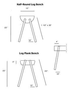 How To Make A log Bench | Half-Round Log Bench