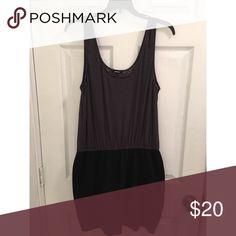 Grey&black mini dress Stretch Express Dresses Mini