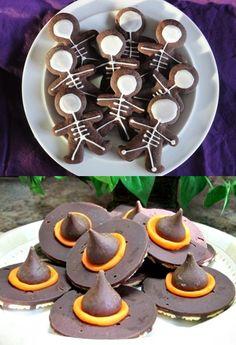 Halloween+Witch+Hats-+Hershey+Kisses%2C+Fudge+Stripe+Cookies+and+Orange+Icing%2C+Gingerbread+Man+Skeleton+Cookies.jpg 588×862 pixels