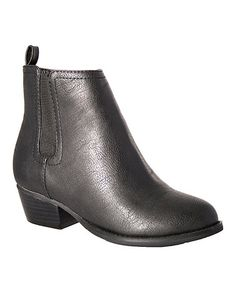 Look what I found on #zulily! Black Modesta Ankle Boot by Intaglia #zulilyfinds