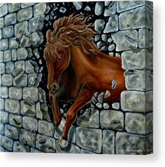 Through The Wall Canvas Print / Canvas Art by Faye Anastasopoulou Wall Art Prints, Poster Prints, Canvas Prints, Art Posters, Wall Canvas, Canvas Art, Thing 1, Art For Sale Online, Picture Design