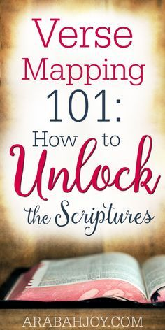 Verse mapping is a simple way to dig deep into God's word. Here's how you can begin unlocking the scriptures today!