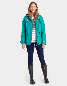 Coast Emerald Green Waterproof Jacket | Joules UK