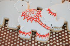 Indian Outfitted Elephant Hand Decorated Sugar Cookies