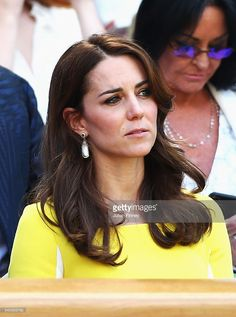 Catherine, Duchess of Cambridge watches on from The Royal Box on day ten of the Wimbledon Lawn Tennis Championships at the All England Lawn Tennis and Croquet Club on July 7, 2016 in London, England.