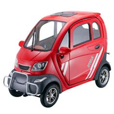 E Jeep Enclosed 4 Seat Heated Mobility Scooter with AC - Scooter Factory USA Electric Tricycle, Electric Scooter, Electric Vehicle, Electric Motor, Small Electric Cars, Motor Scooters, Mobility Scooters, Mobility Aids, Sun Roof