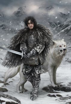 """Game of Thrones"" ~ George R. R. Martin - redskullsmadhouse: "" jon_snow_by_fdasuare """