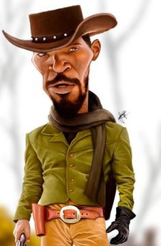 Jamie Foxx in Django (Caricature) Dunway Enterprises - http://www.learn-to-draw.org/caricatures_clb.html?hop=dunway