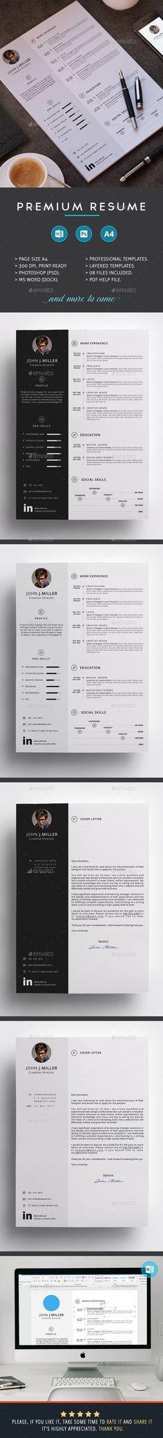 Resume Modern resume template, Modern resume and Resume template - graphic design resume template download