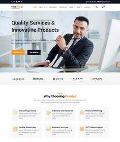 Finadco - Business Consulting Service Joomla Template Joomla Templates, Menu Templates, Daycare Menu, Social Icons, People In Need, Professional Services, Business Website, Innovation, Investing