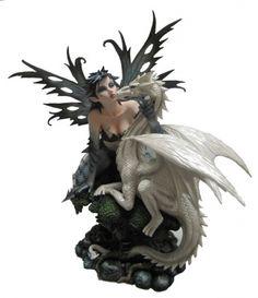Jasmeena the Courtesan - Fairies, Figurines, Nemesis Now, Statues, Large Fairies Dragon Figurines, Fairy Figurines, Christmas Figurines, Collectible Figurines, Dragon Statue, Dragon Art, Black Fairy, Fairy Statues, Fairy Gifts