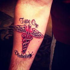 Type one diabetic tattoo.....smart idea in case of emergency!