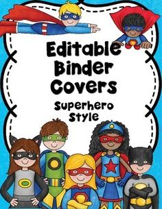 Superhero Themed Binder CoversEditable Binders with a Superhero Theme! This set comes in color and ink saving Black and White versions. Please note this is an editable PDF instructions are included. Editable Powerpoint file has been added!If you like to stay organized, have a variety of files or want to create some notebooks for your students that you want to make stand out then this is the set for you!