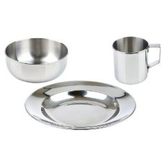 LunchBots Children's Stainless Steel Dish Set