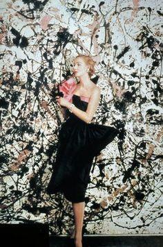 Cecil Beaton et Jackson Pollock pour Vogue, 1951