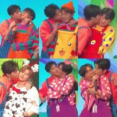 IKON Re-Konnect Junhoe kissing the other members Chanwoo Ikon, Hanbin, Yg Entertainment, Ikon Debut, Ikon Wallpaper, Bobby, Funny Gifs, Kissing, Hate