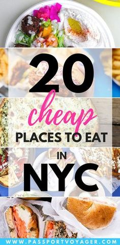 20 Cheap Places to Eat in New York City - Passport Voyager Usa Roadtrip, Travel Usa, Cruise Travel, Restaurants In Nyc, Times Square, Central Park, Voyage New York, New York City Travel, New York Vacation