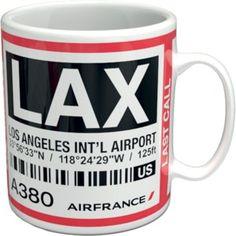 "Air France Shopping Flying Blue - ""BAGTAG"" A380 Los Angeles mug"