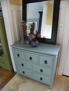 another furniture makeover in this blue that I love!