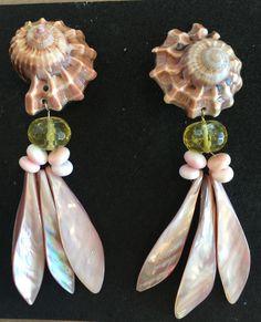 Christas South Seashells Big Earrings