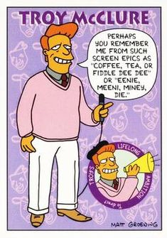 1993 SkyBox the Simpsons #S36 Troy McClure Front