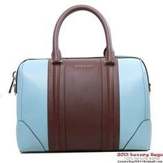 b5a95be320 Givenchy Lucrezia Bags on Sale - Classic Replica Givenchy Lucrezia Bag  Calfskin Leather Light Blue and Brown