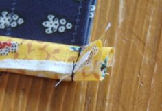 バイアステープの端をきれいに縫う方法