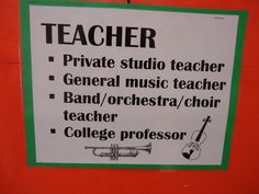 Teaching Elementary Orchestra : Careers in Music Bulletin Board