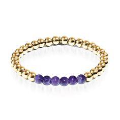 Admiration | 18k Gold | Amethyst | Expression Bracelet