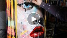 In this new video demonstration, I realize this time a portrait in a style Pop Art. The background of this portrait is made in the manner of an abstract painting. As you will see I played again with transparency. The size of the canvas is 70x100cm DVD