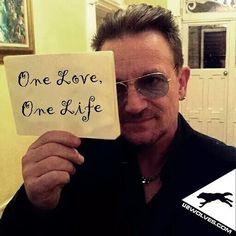 "u2.wolves - ""One love, one life...""- #Bono  #U2 #U2ieTour #OneLove @U2"