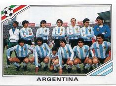 Argentina team group sticker for the 1986 World Cup Finals. Argentina Team, Argentina Football, Messi, Mexico World Cup, Football Stickers, National Football Teams, Sports Day, World Cup Final, World Football