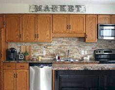 100 best oak kitchen cabinets ideas decoration for farmhouse style (81)
