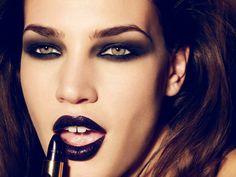 black lipstick, lips