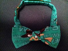 perry the platypus kid sized bow tie custom made by playpatch, $15.00