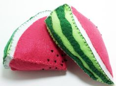 One watermelon play fruit slice by Kklaus on Etsy