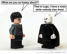 Voldemort and Harry - Lego Harry Potter Harry Potter Love, Harry Potter Universal, Harry Potter Fandom, Lord Voldemort, Sirius Black, Scorpius And Rose, Movies Quotes, Must Be A Weasley, No Muggles