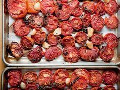 The Homemade Pantry's Roasted Tomatoes for the Freezer   Serious Eats : Recipes Store in freezer for making spaghetti sauce later.